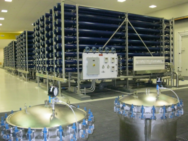 Reverse osmosis production train, North Cape Coral Reverse Osmosis Plant