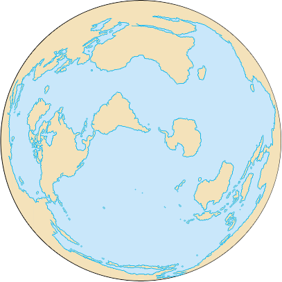 View of the Earth where all five oceans visible