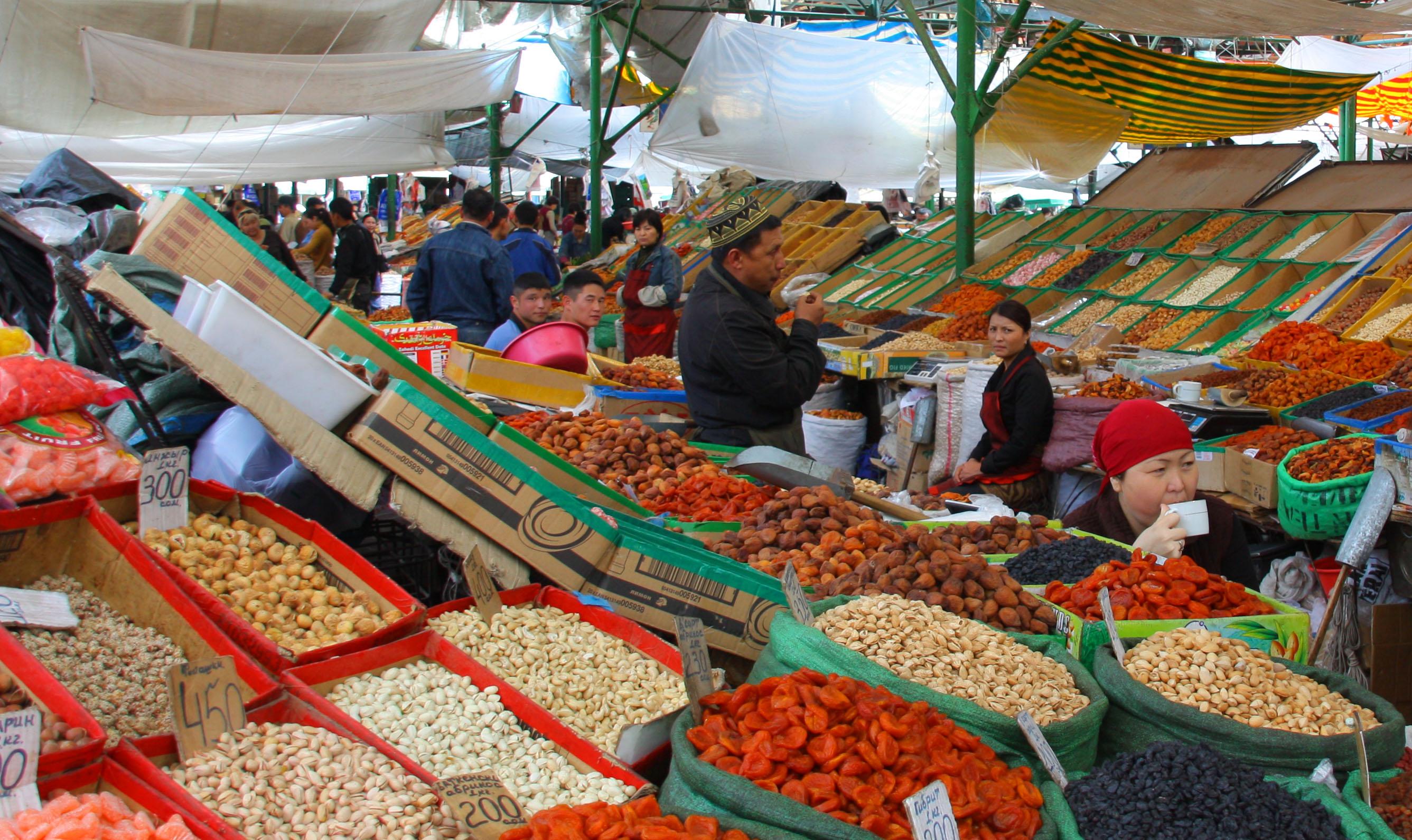 Bishkek Kyrgyzstan  city photos : Файл:Osh Bazaar in Bishkek, Kyrgyzstan dried fruits and nuts ...