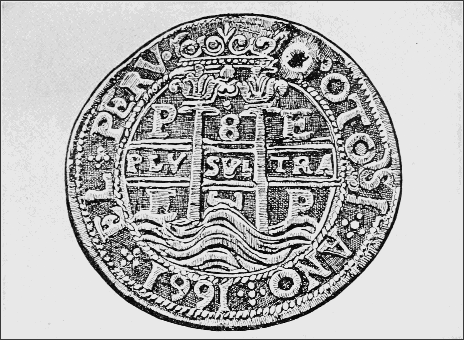 PSM V81 D529 Pillar dollar of 1661.png