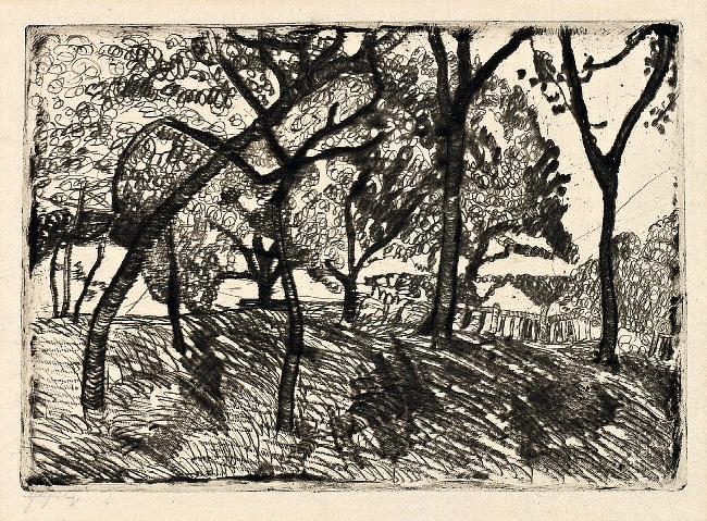 Paula Modersohn-Becker Landschaft unter Bäumen