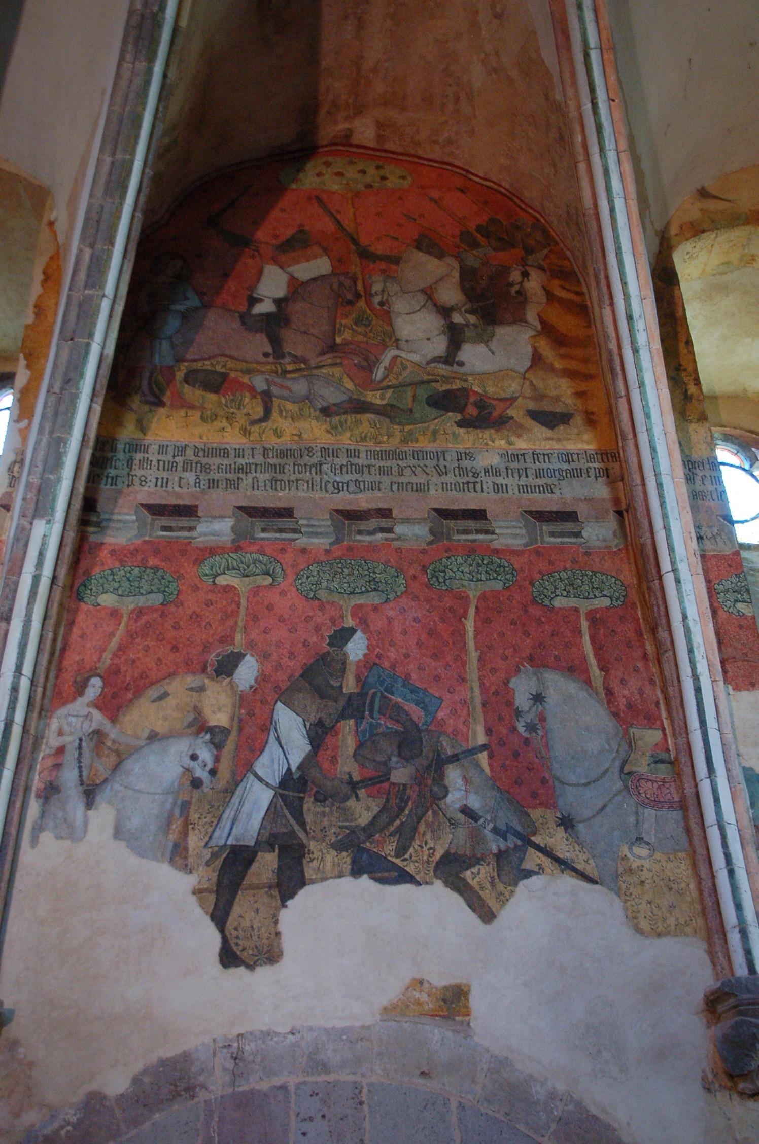 File peinture murale dans logis seigneurial de saint for Peinture metallisee murale