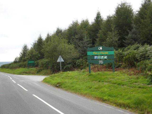 Pen y Ffordd Wood, Dyfnant Forest - geograph.org.uk - 560342