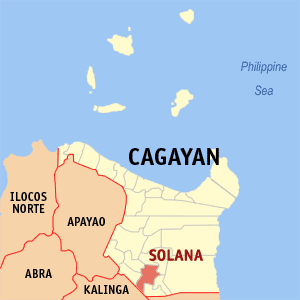 Mapa na Cagayan ya nanengneng so location na Solana