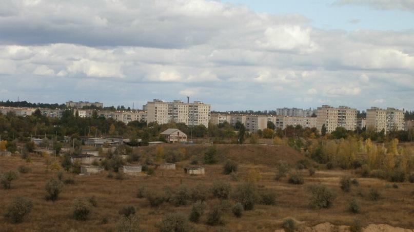 вид на город с Карьера (ноябрь 2011)