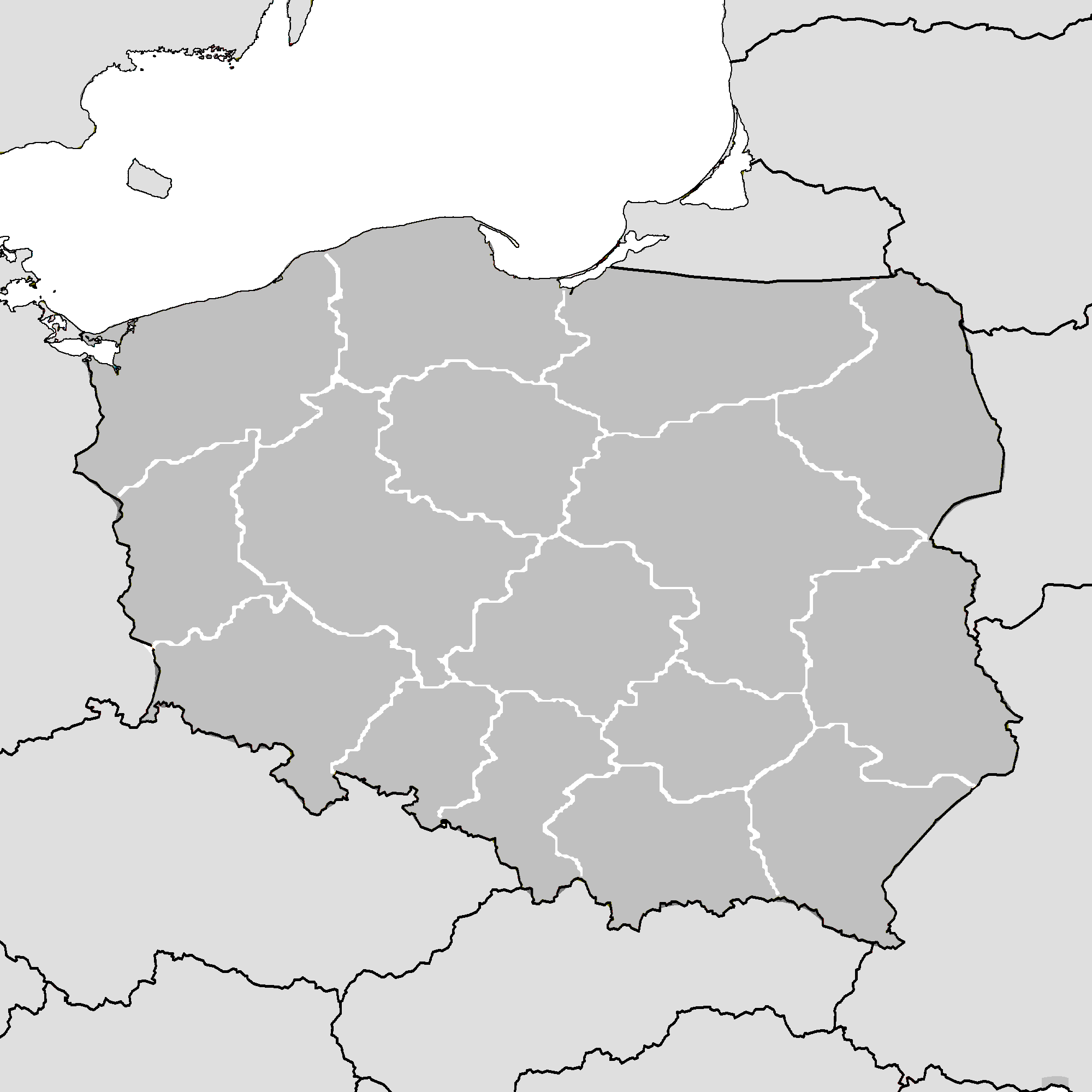 Picture of: File Poland Map Simple With Voivodeships Png Wikimedia Commons