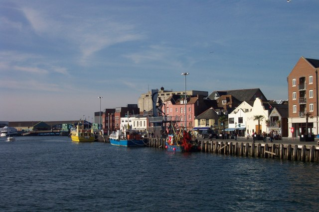 Poole Quay in Poole, Dorset.