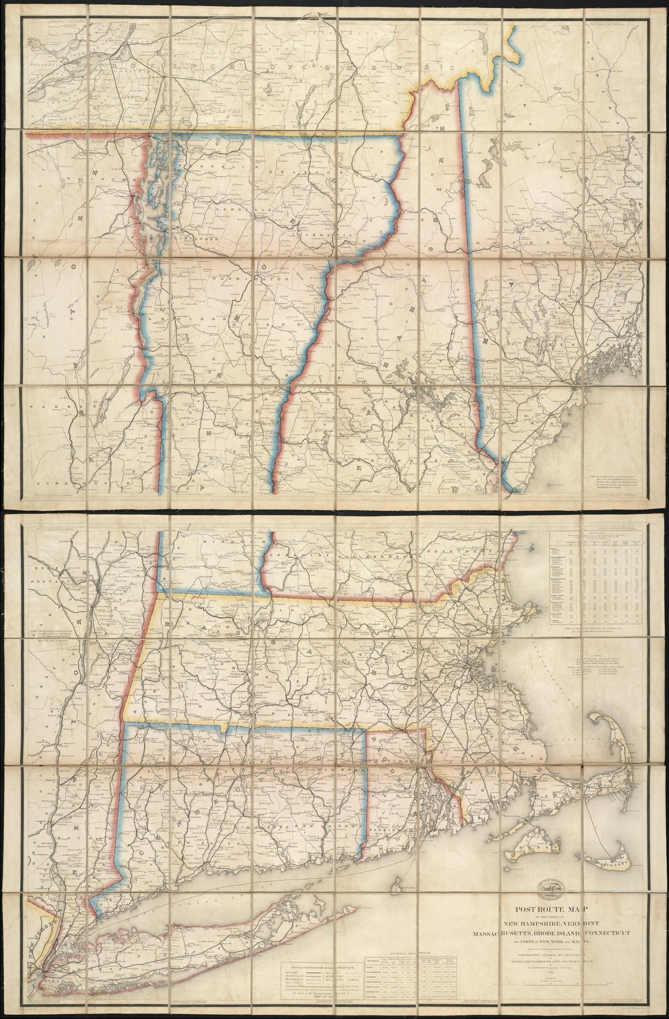 File:Post route map of the states of New Hampshire, Vermont ...