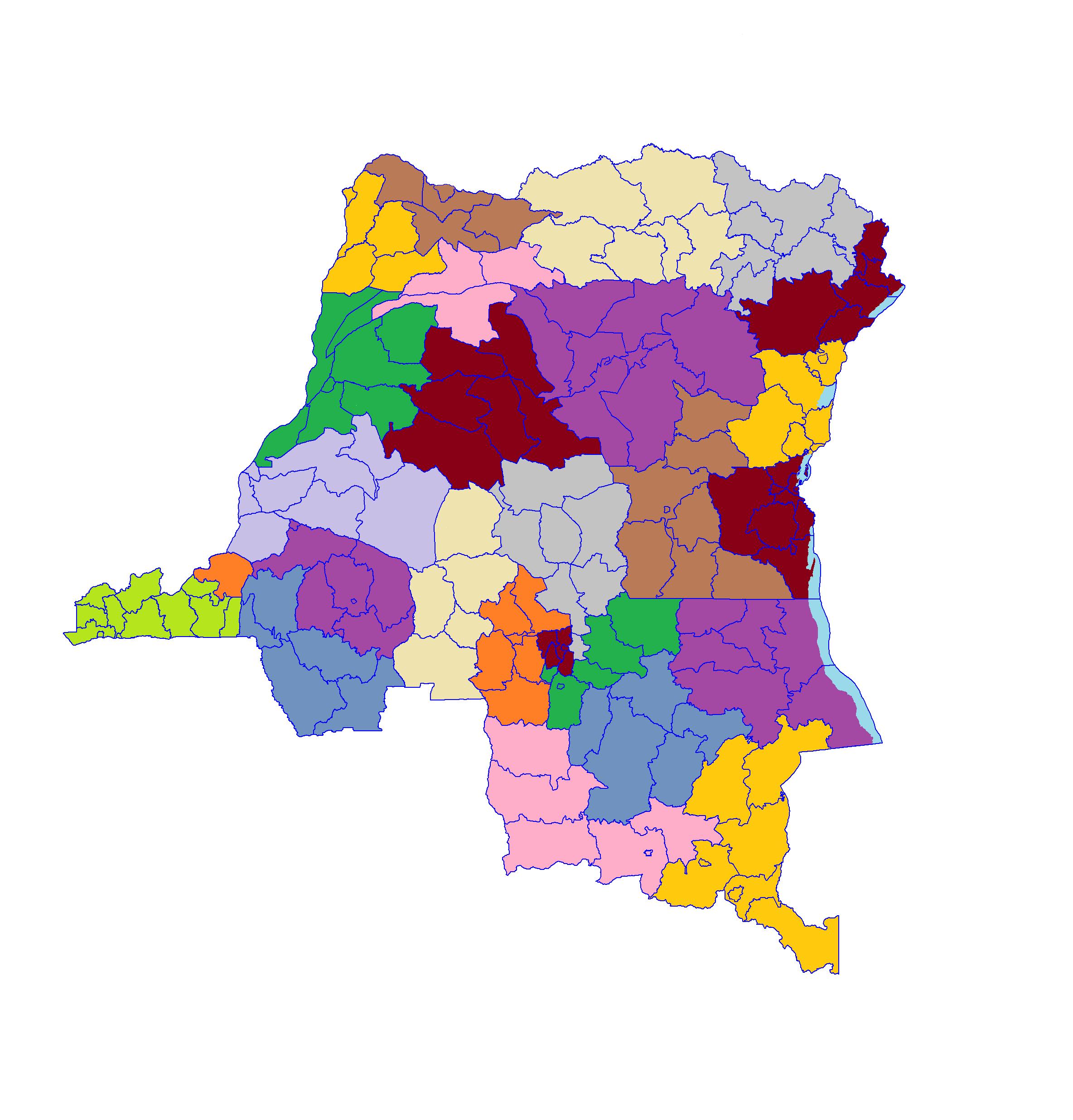 république démocratique du congo carte Subdivision de la république démocratique du Congo — Wikipédia