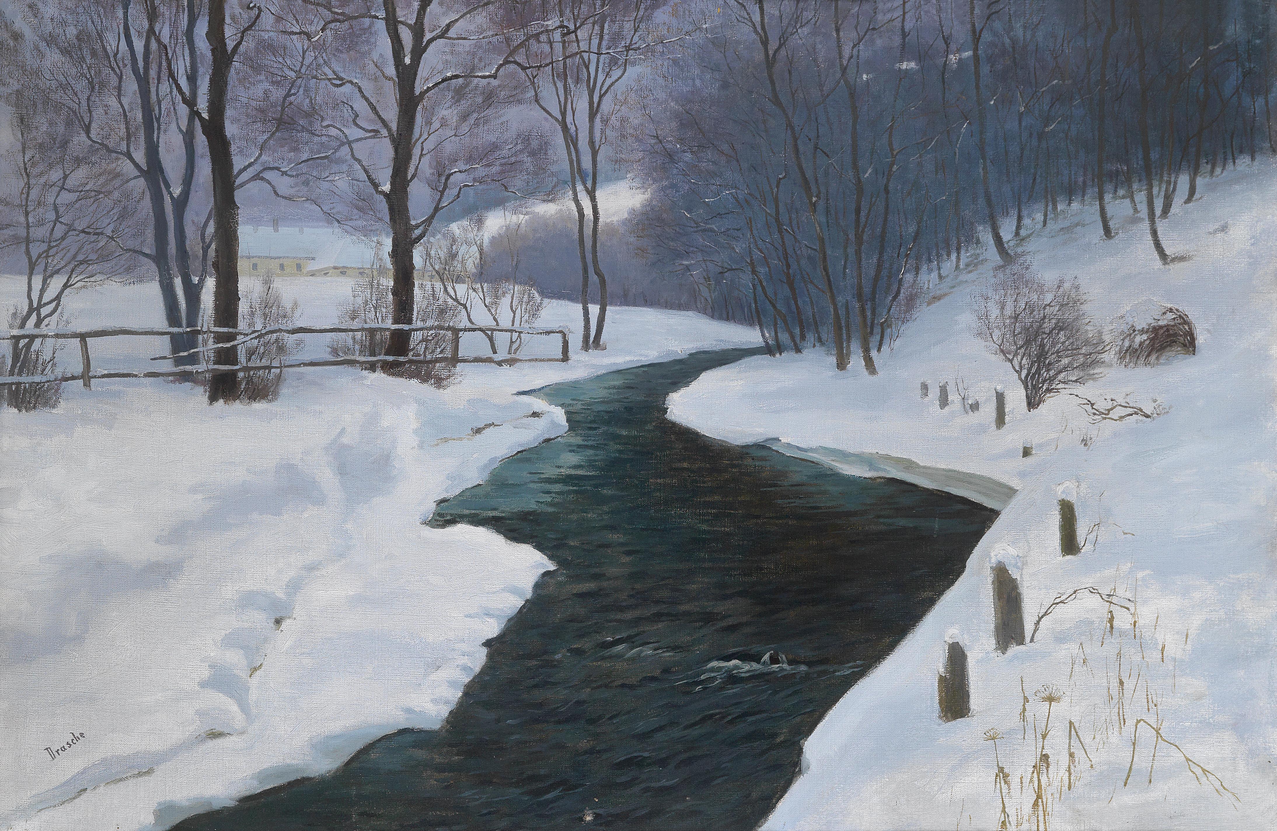 Richard Freiherr von Drasche Wartinberg Im tiefen Winter