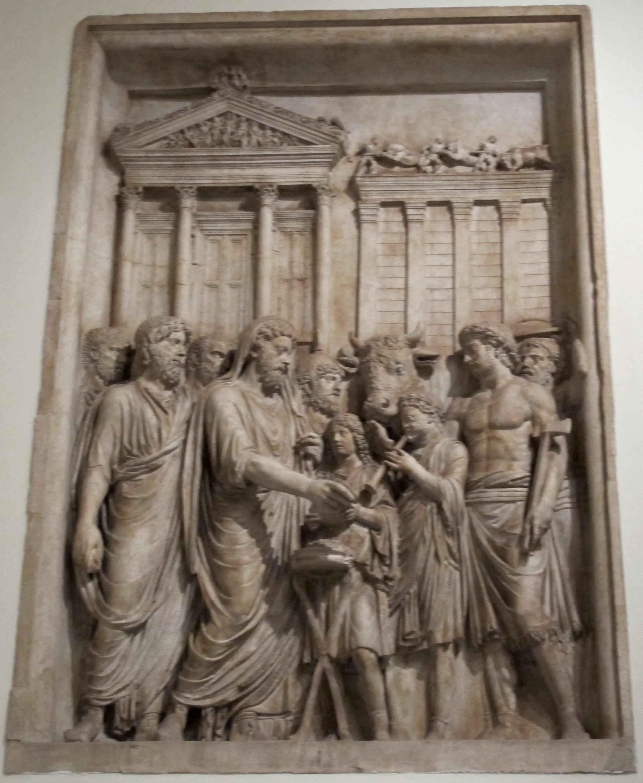 File:Rilievo da monumento onorario di Marco Aurelio sacrificio a ...