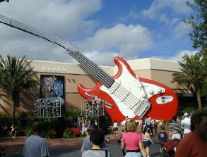 The Rock 'n' Roller Coaster Starring Aerosmith opened at Walt Disney World in 1999. Rockin outside.JPG