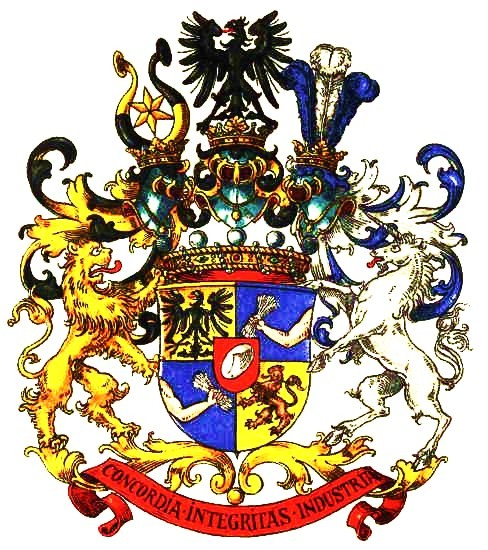 Coat of arms of the Rothschild family. Françai...