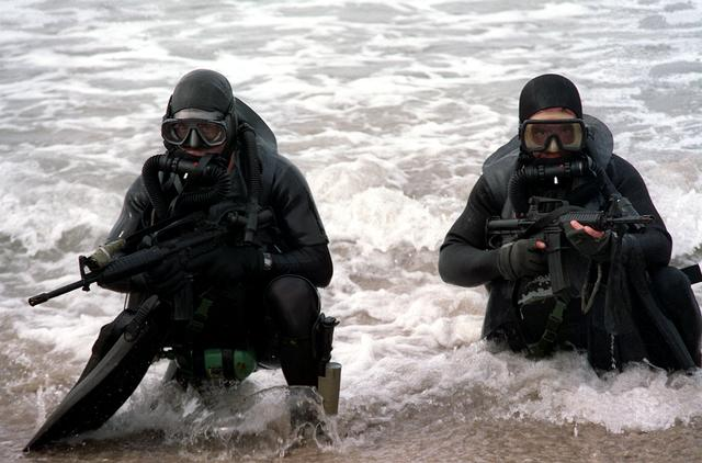 Navy Seals Emerging From