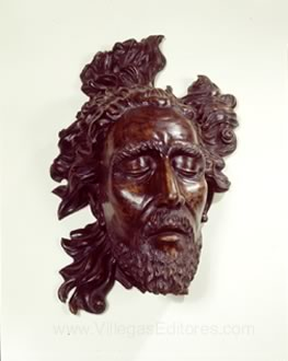 Wood sculpture of John the Baptist's head by Santiago Martinez Delgado, 1942