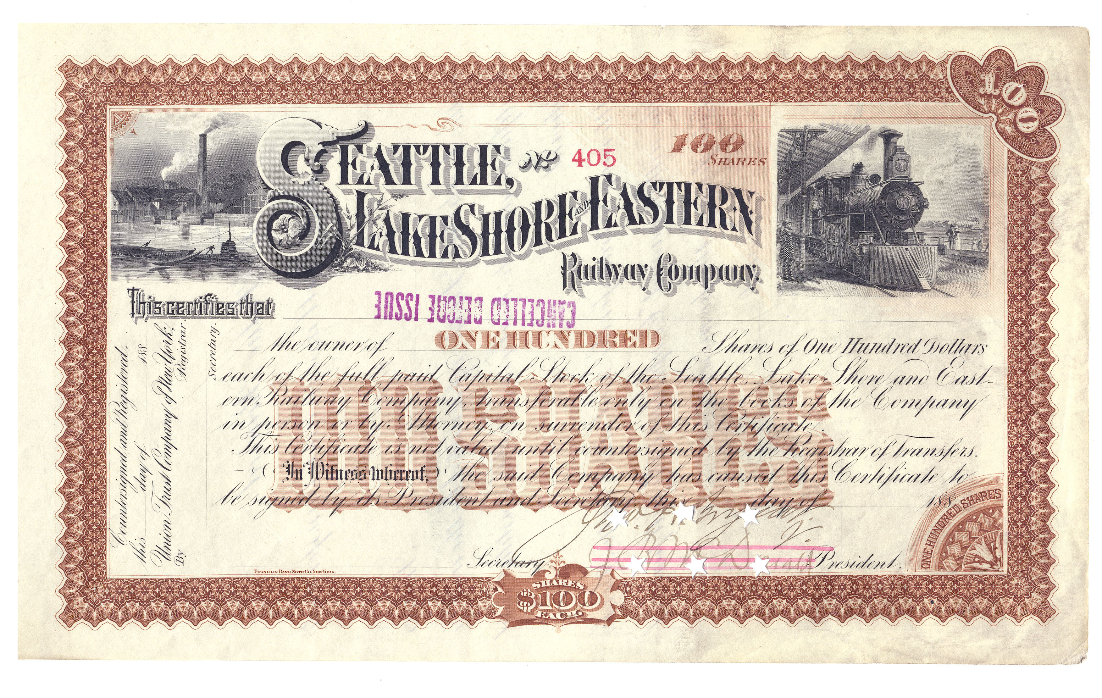 File:Seattle, Lake Shore and Eastern Railway Company share ...