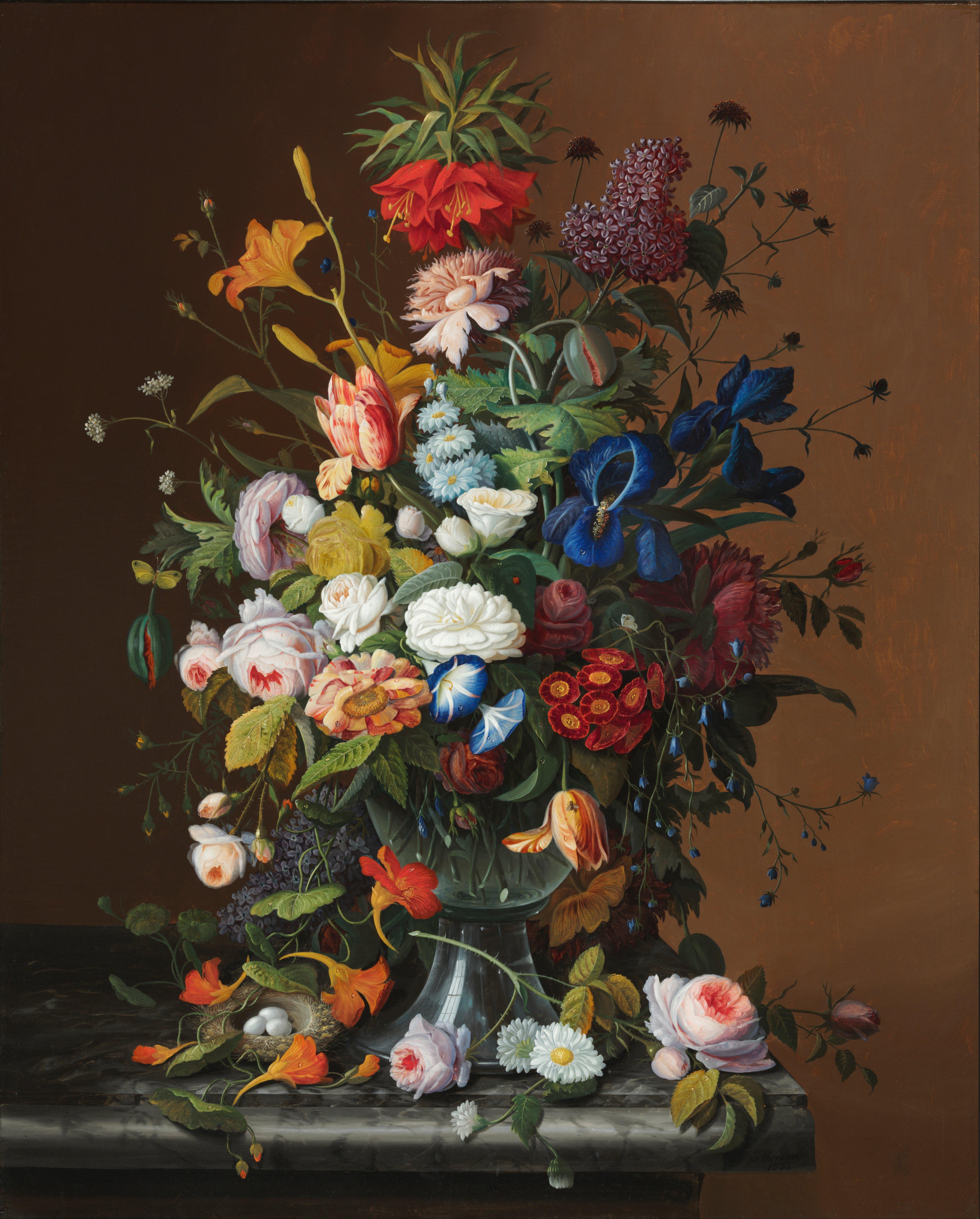 Still Life Artist Flowers
