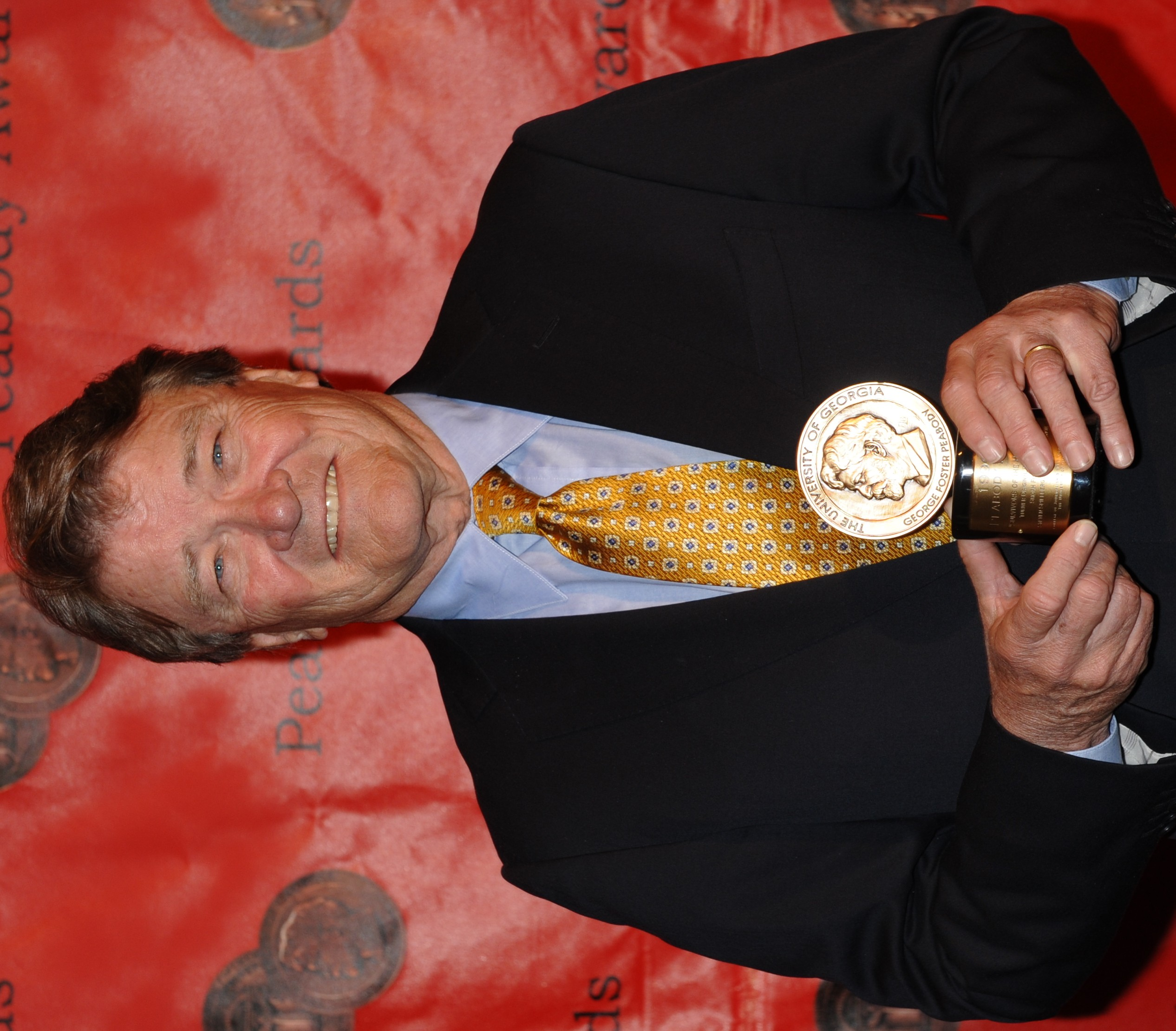Kroft at the 69th Annual [[Peabody Awards]] in 2010