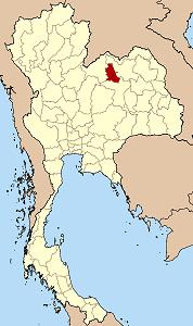 ノーンブワラムプー県の位置