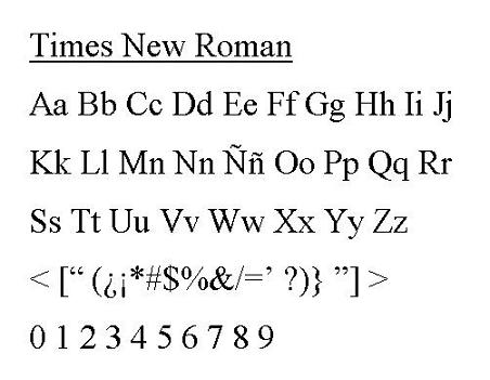 times new roman or arial essay definition