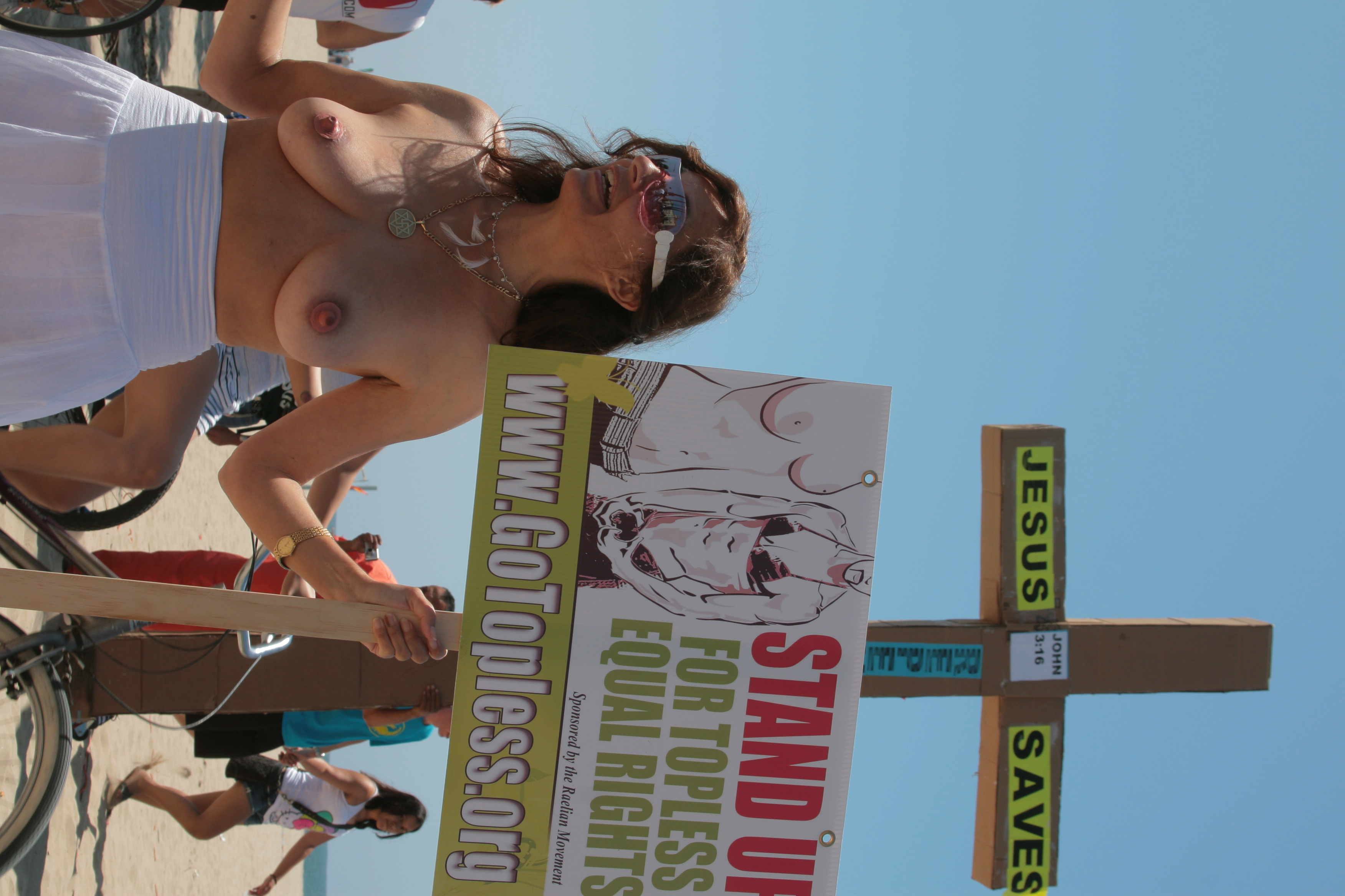 Naked girls at events Go Topless Day Wikipedia