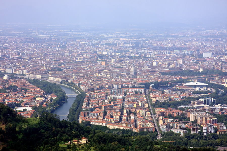 Panorama sur Turin depuis la basilique Superga. Photo de Alessandro Vecchi