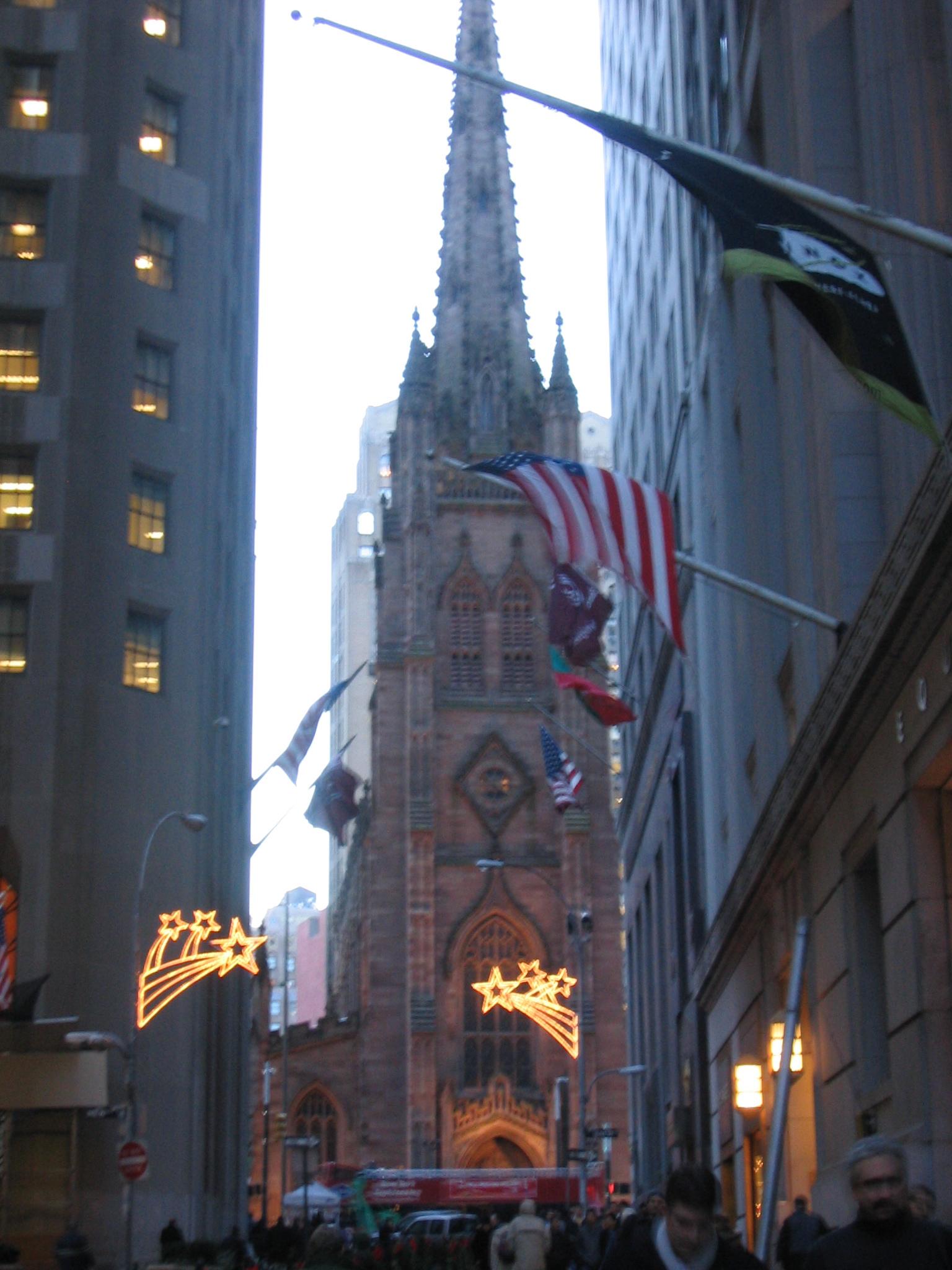 File:Trinity Church On Wall Street New York City Winter