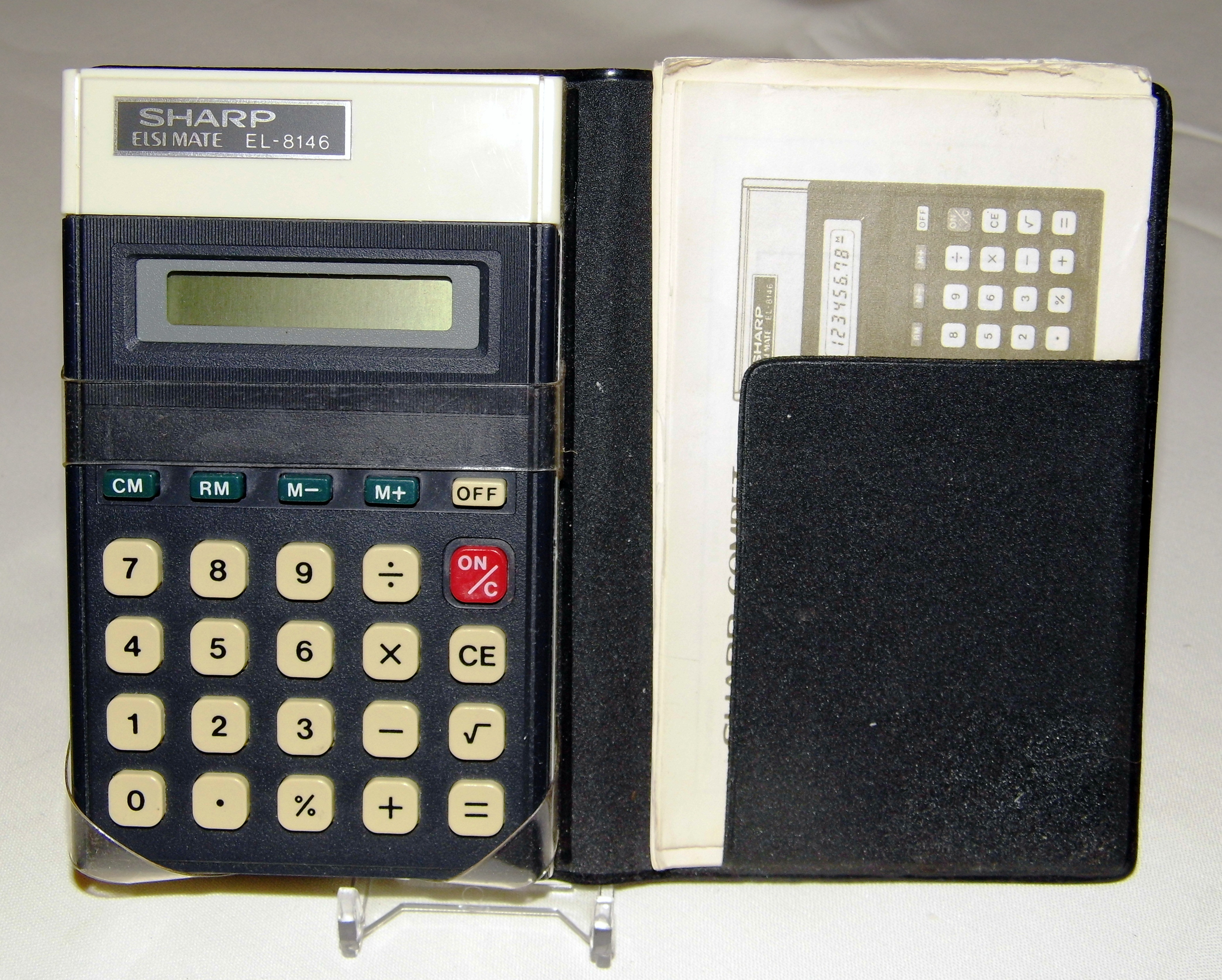 Retro SHARP Elsimate EL-208 Calculator in Original Box