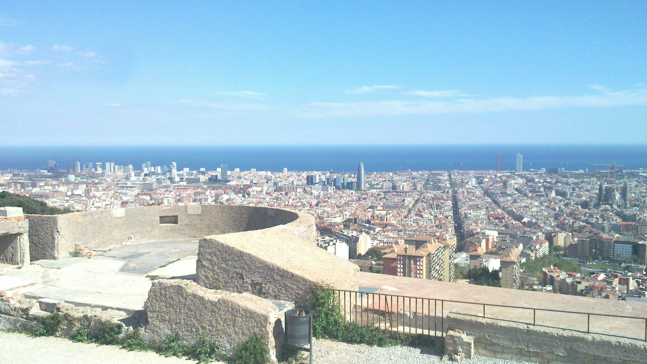 Vista Barcelona des del Turó de la Rovira