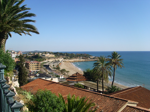 Vista praias da cidade (Tarragona).JPG