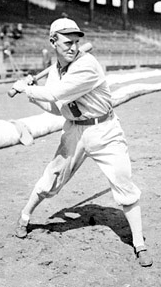 Walt Kuhn batting as a member of the Chicago White Sox.
