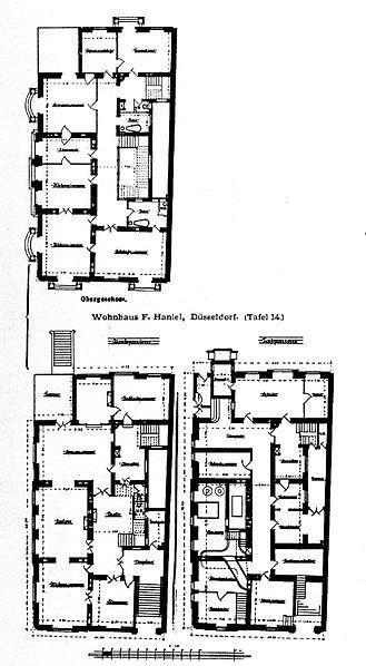 Datei wohnhaus f haniel d sseldorf tafel 14 grundriss for Wohnhaus grundriss