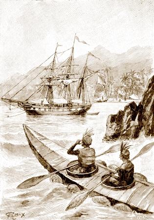 indyjska fregata zbudowana w 1817 roku