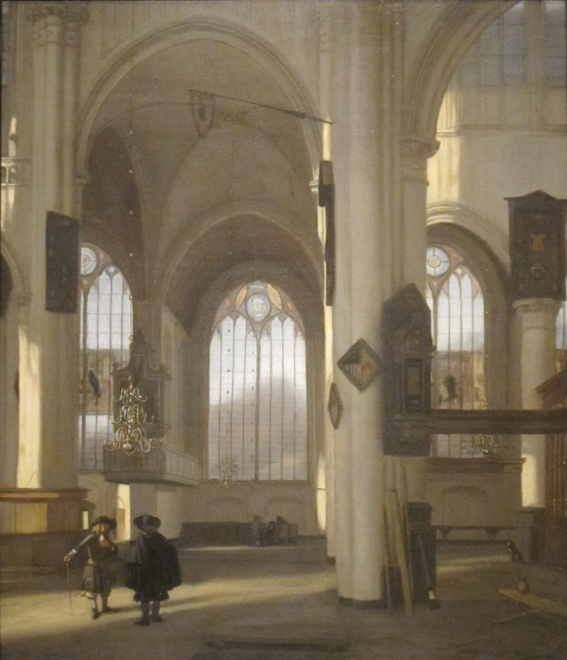 file 39 interior of a church 39 oil on canvas painting by. Black Bedroom Furniture Sets. Home Design Ideas