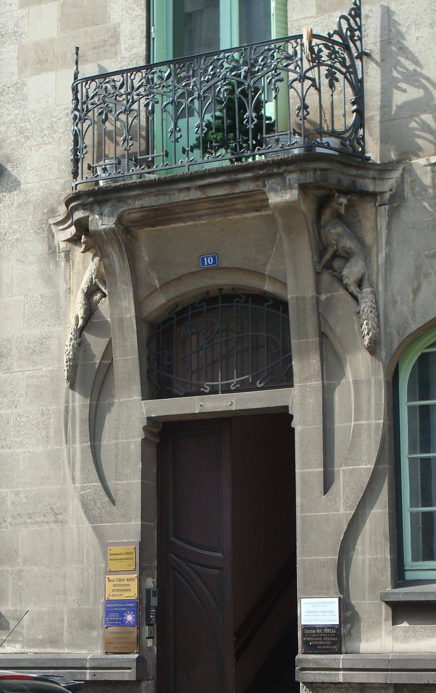 File:10 rue de Ceyrat, Immeuble Art Déco, porte d\'entrée.jpg ...
