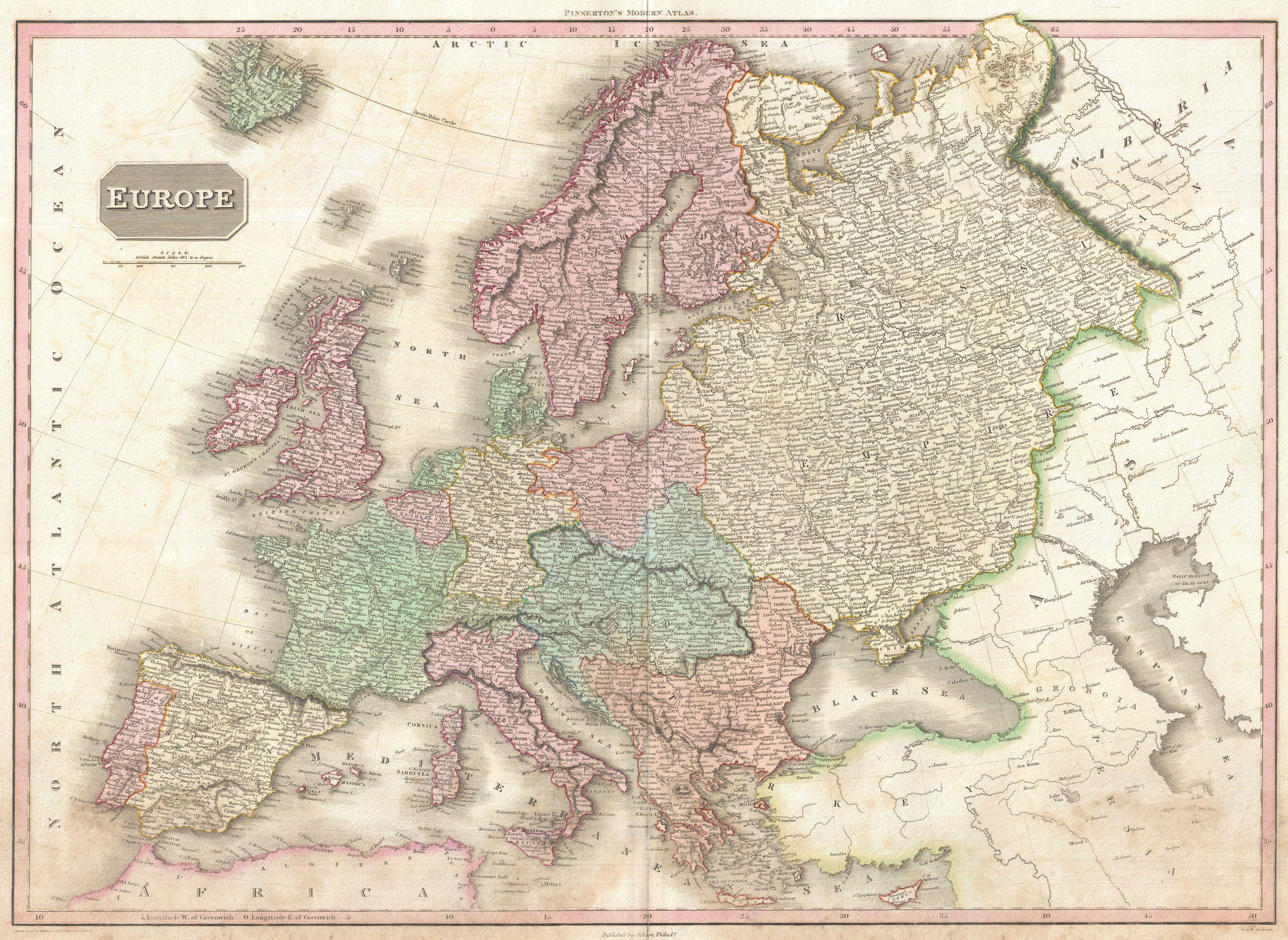 File:1818 Pinkerton Map of of Europe - Geographicus - Europe-pinkerton-1818