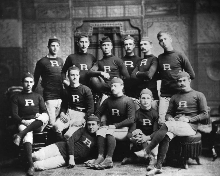 The Rutgers College football team in 1882