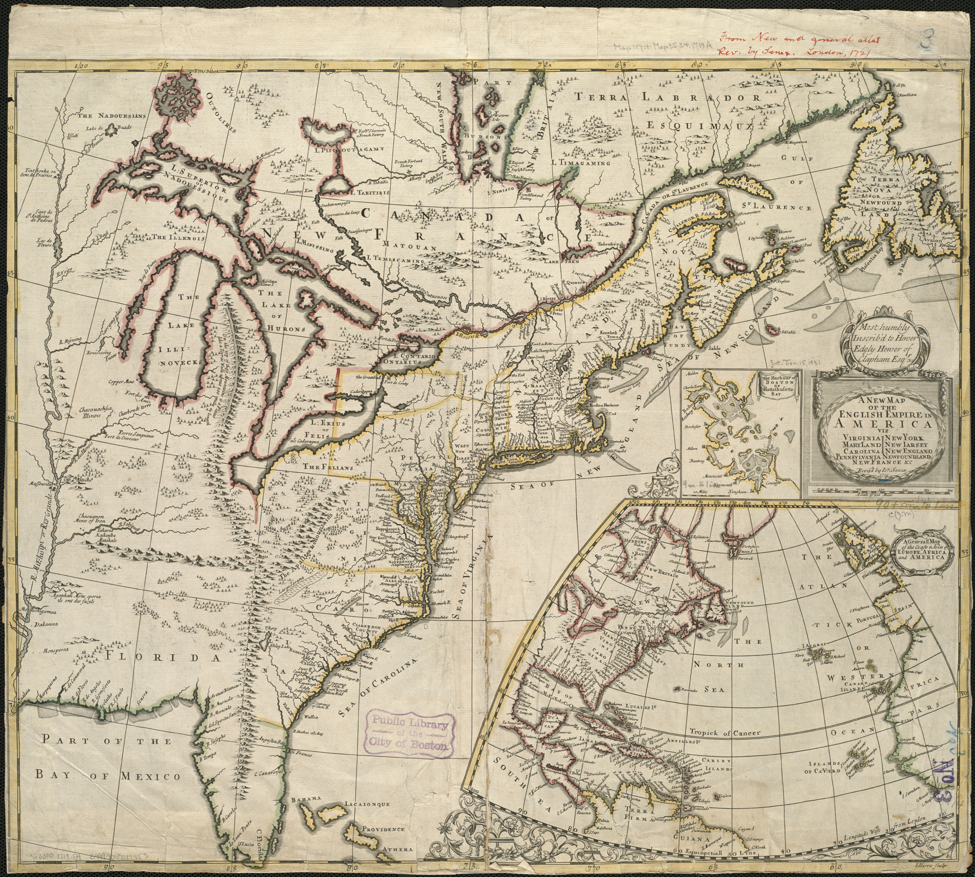 Map Of America Virginia.File A New Map Of The English Empire In America Viz Virginia