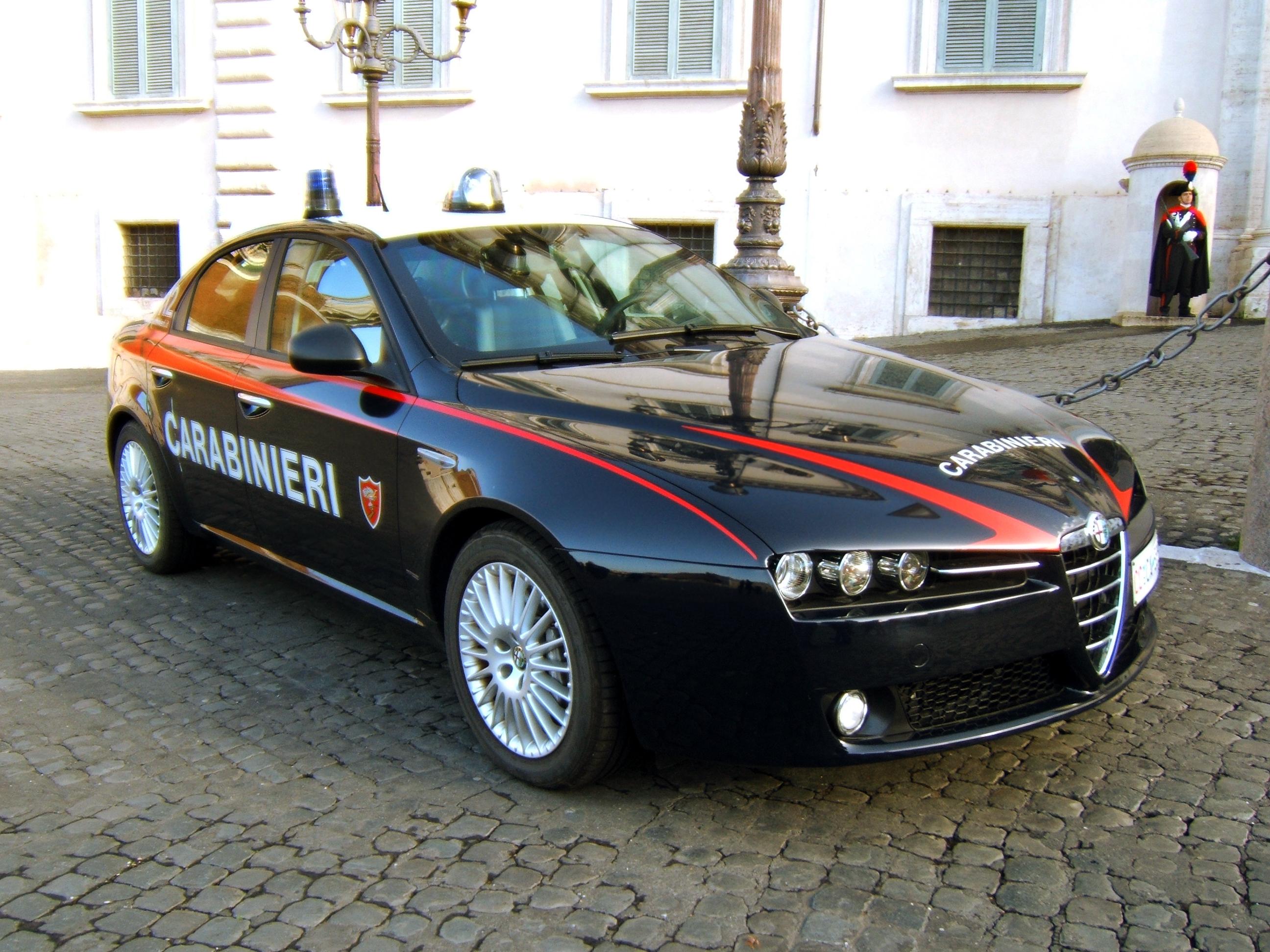 I Carabinieri sono intervenuti nel caso della donna decapitata