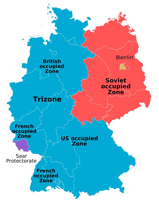 TrizonesienSong Wikipedia - Germany occupation zones map
