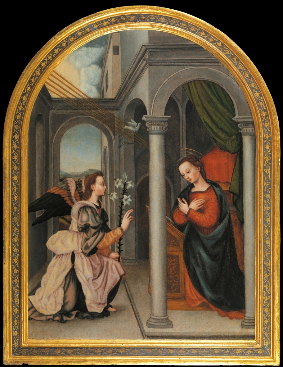 Annunciation painted by Plautilla Nelli.jpg