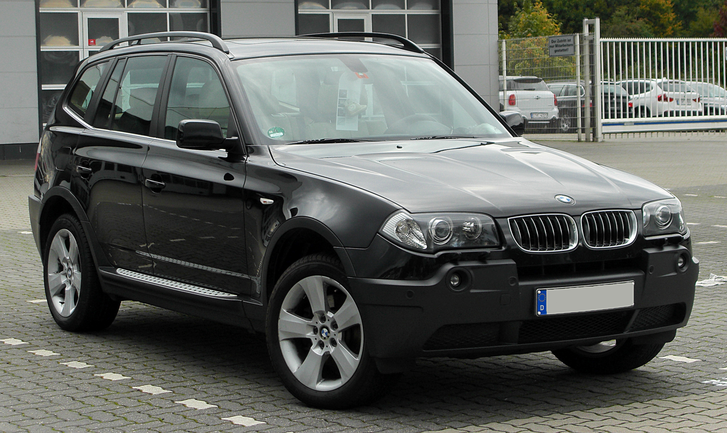file bmw x3 e83 facelift front wikimedia. Black Bedroom Furniture Sets. Home Design Ideas