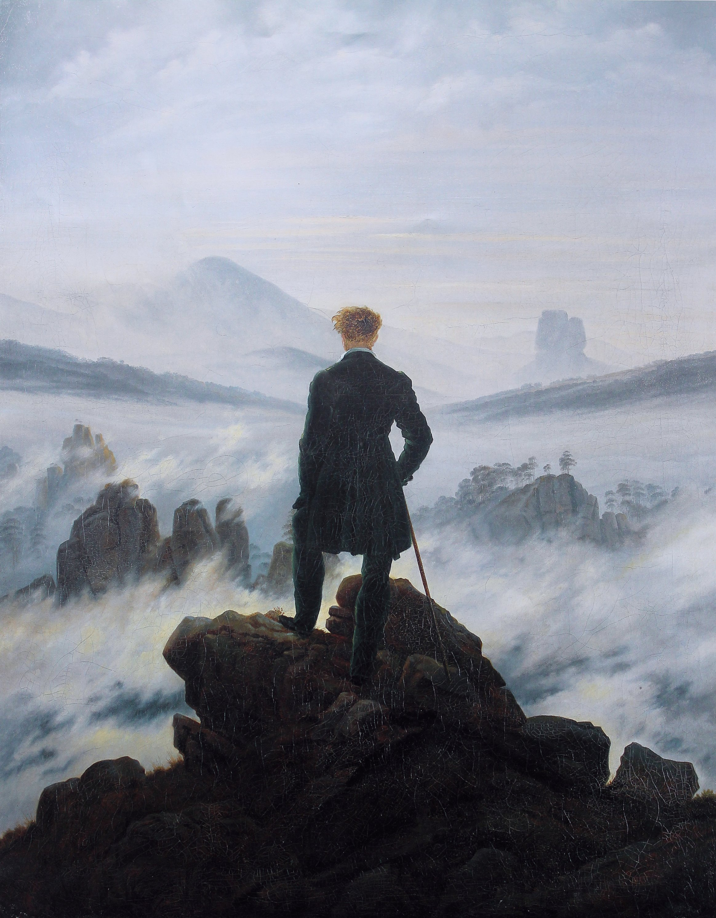 Wanderer Above the Sea of Fog, Caspar david Friedrich