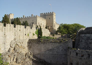 The Knights' castle at Rhodes Castle at Rhodes.jpg
