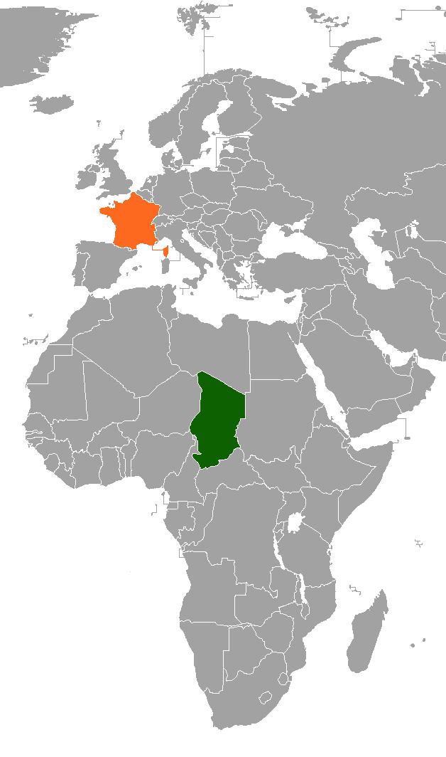 Ubijen dugogodišnji predsjednik Čada samo dan nakon pobjede na izborima Chad_France_Locator