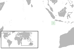 Location o Christmas Island