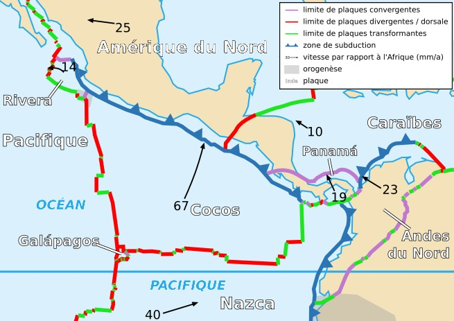 location of haiti earthquake 2010 with File Cocos Plate Map Fr on FR WikiProject Haiti likewise Maps further Haiti furthermore Ancash Earthquake Of 1970 as well Mt Pinatubo Tom B Brandon Carlo Alison.