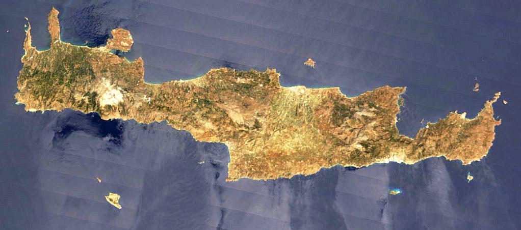 جزيرة كريت Crete_Nasa