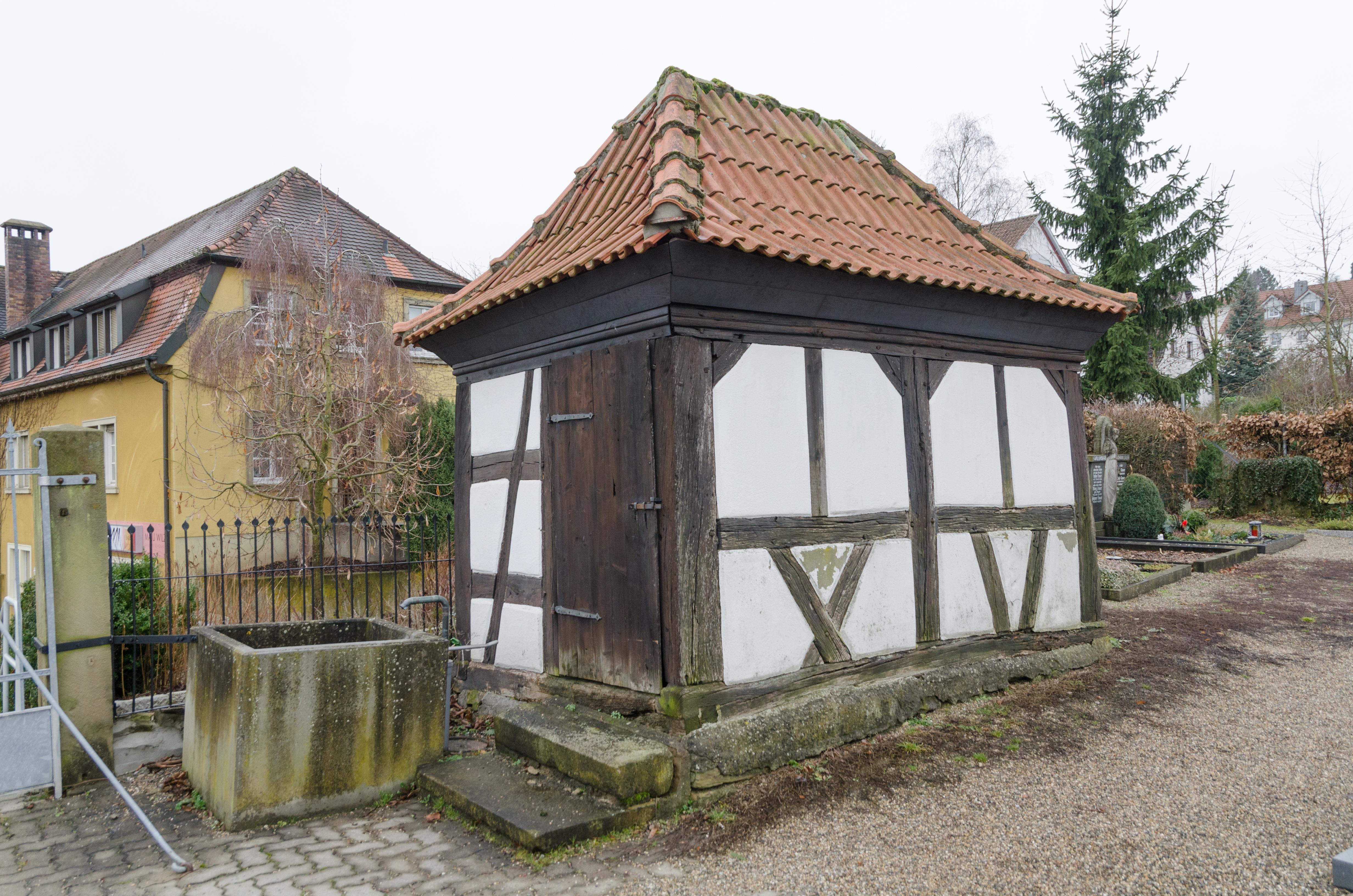file dittelbrunn hambach friedhof fachwerkschuppen 001. Black Bedroom Furniture Sets. Home Design Ideas