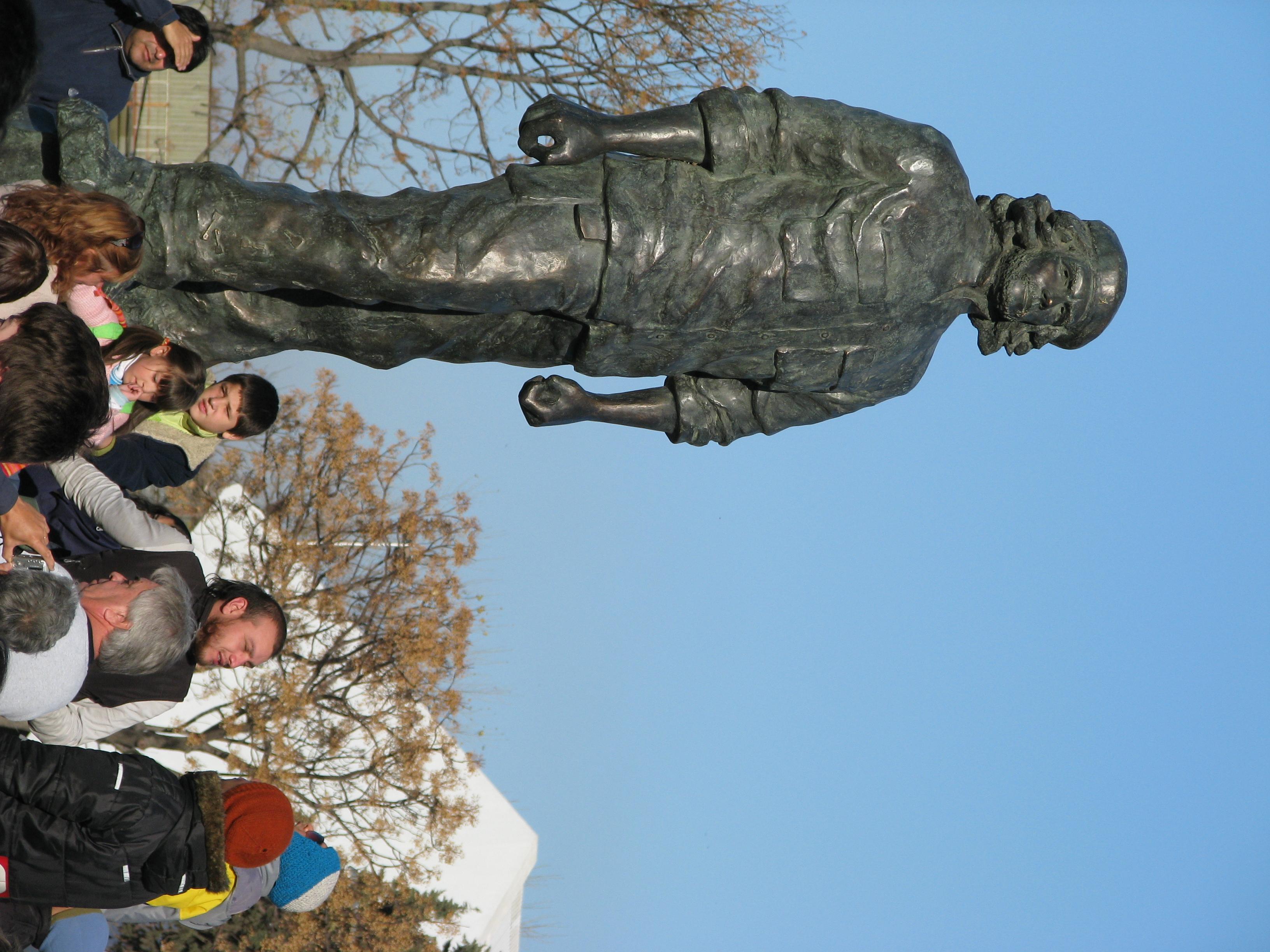 Estatua de Ernesto Che Guevara en Rosario.